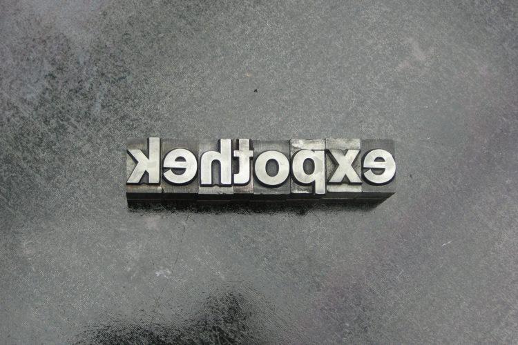 Bleisatz »expothek«